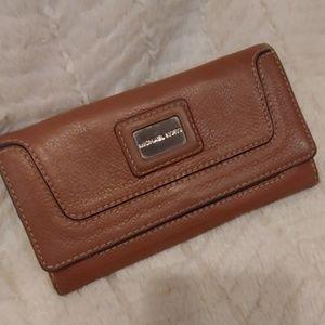 Michael Kors Brookville Brown Leather Wallet